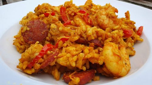"""Chicken, Chorizo And Seafood Paella By """"Two Chubby Cubs"""""""