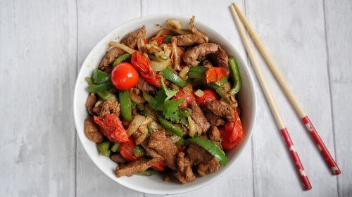 Beef Sautéed With Peppers & Ginger By The Slimming Foodie