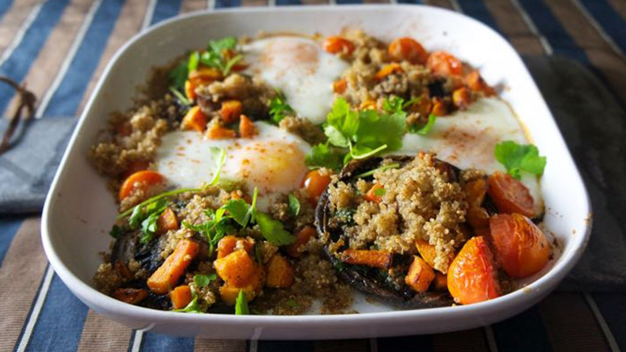Brunch Is Served With The Eating Tree's Quinoa With Roasted Garlic  Mushrooms And Eggs Looks As