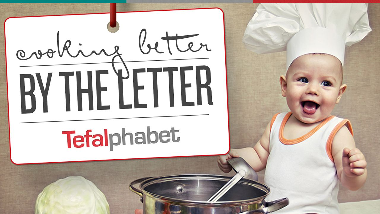 Step up your kitchen game with Tefalphabet